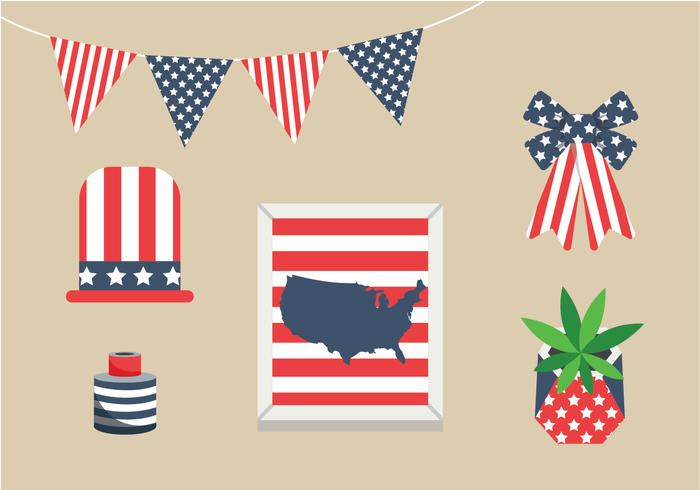 Memorial Day Decorations Vector Pack