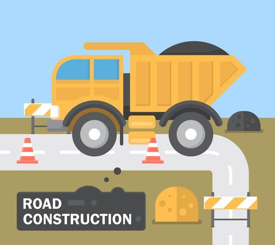 Construção de estradas planas