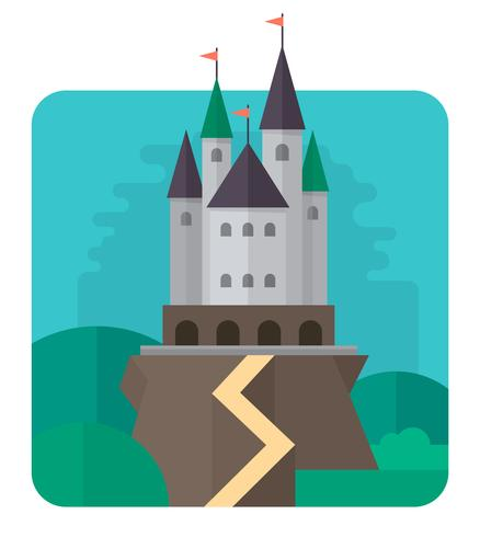 Projeto liso do castelo
