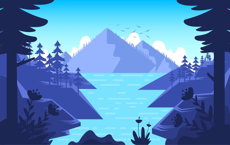 Vector Nature Landscape Illustration