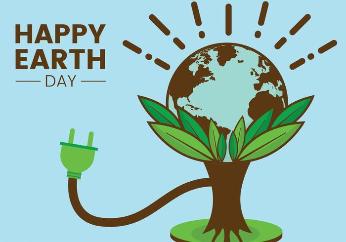 aarde dag vector ontwerp