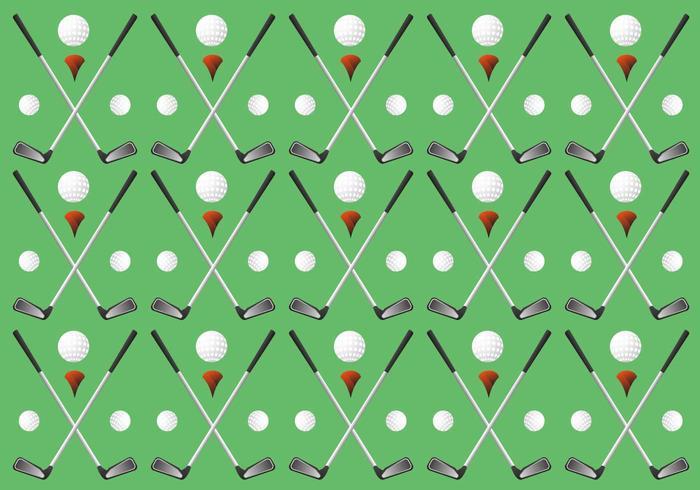 Vecteurs de modèle de golf Vintage unique