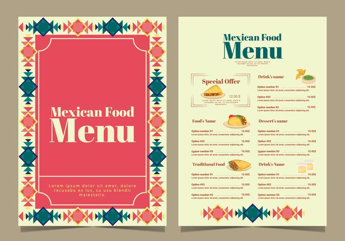 Vector Mexican Food Menu - Download Free Vector Art, Stock Graphics & Images