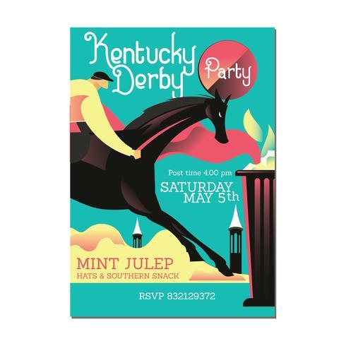 Convite com livramento de cavalo e Julep de hortelã
