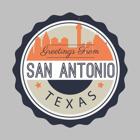 San Antonio Postcard Illustration