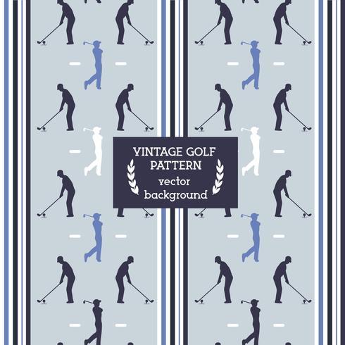 Vector de patrón de golf