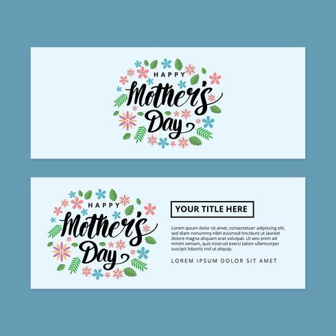 Muttertag Banner Vektor