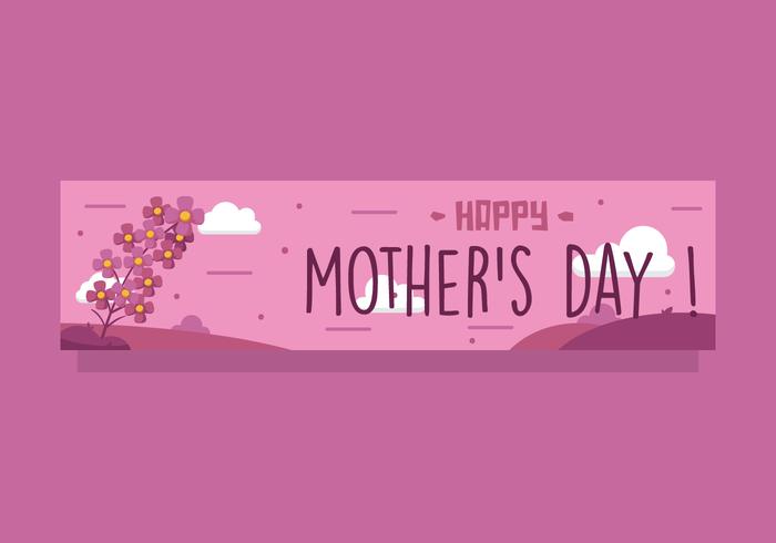 Vecteur de bannière de fête des mères