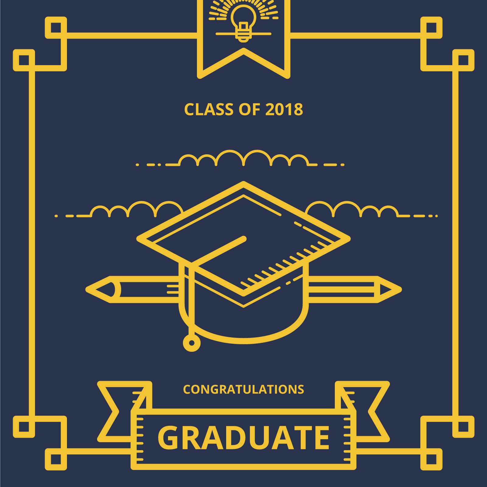 graduation card illustration greetings with graduation hat