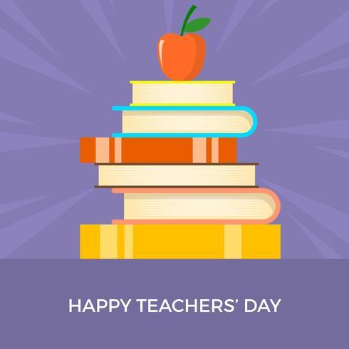 Flat Teachers Day Vector Illustration