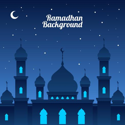 Noite Ramadhan Background Vector