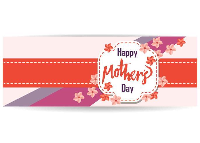 Mães Dia Banner Vector