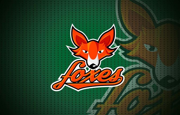 Baseball-Maskottchen-Logo-Schablonen-Vektor
