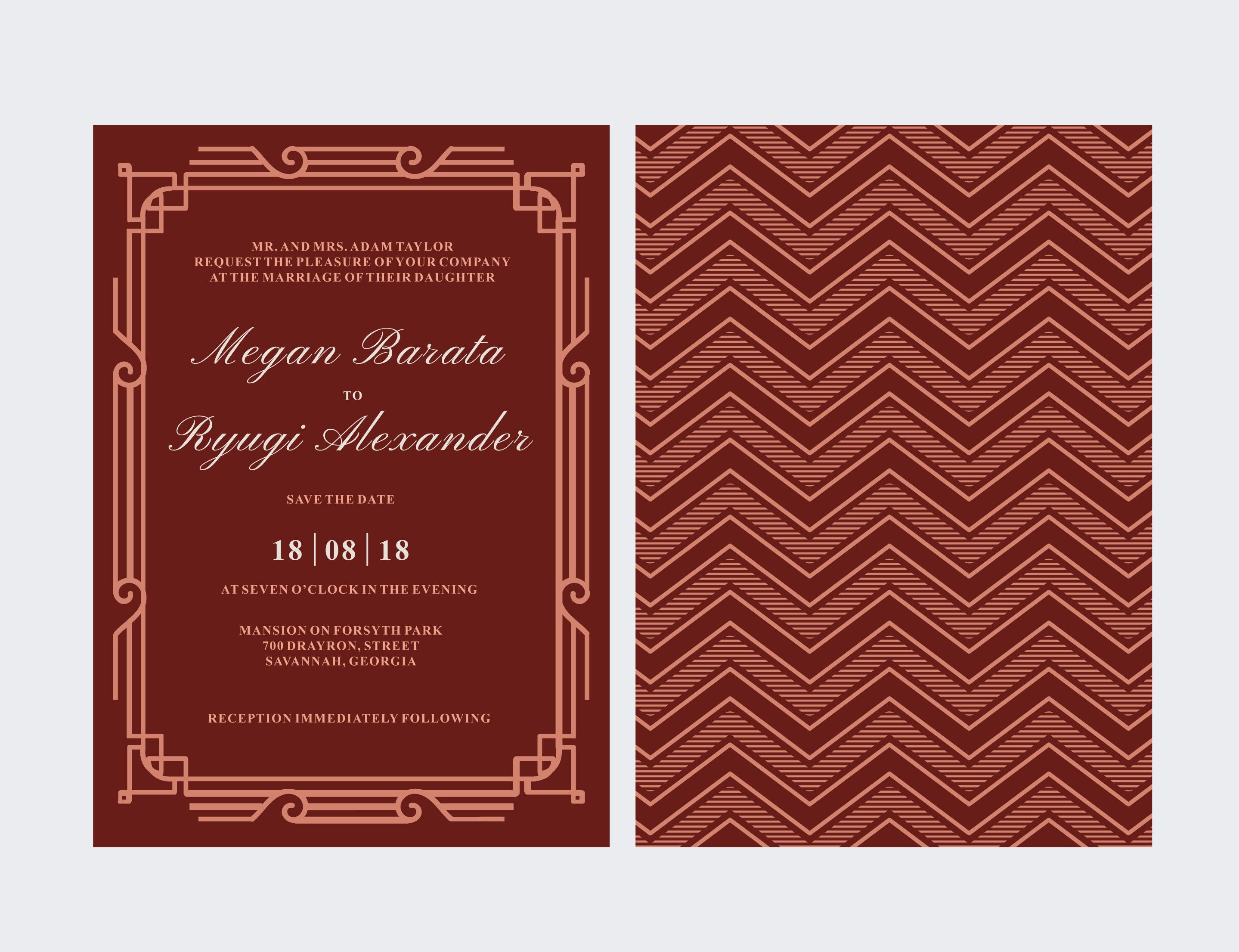 Art Deco Wedding Card - Download Free Vector Art, Stock Graphics ...