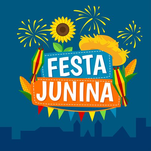 vector del festival de fiesta junina