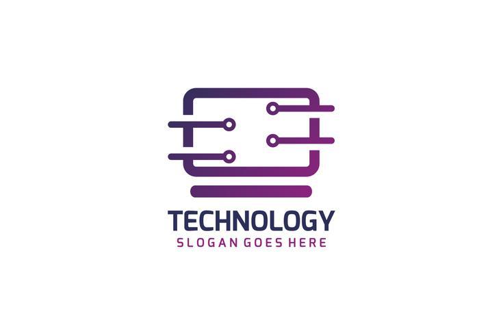 Logotipo de tecnologia de computador