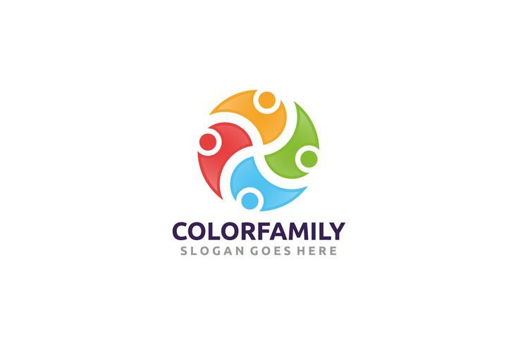 Logotipo de la familia y la comunidad