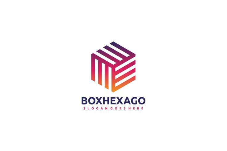Logo de boîte colorée