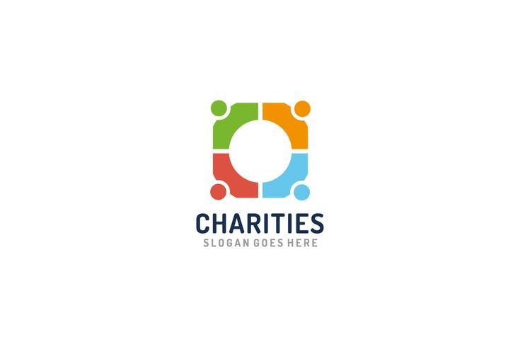 Logo de charités colorées