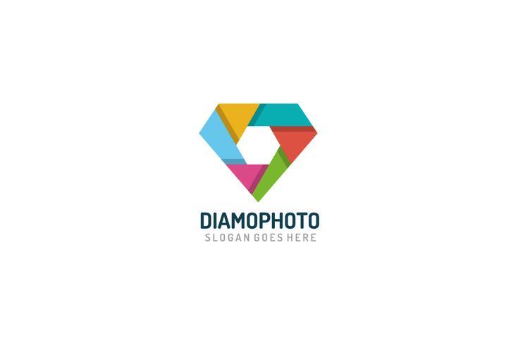 Logotipo de fotografia de diamante