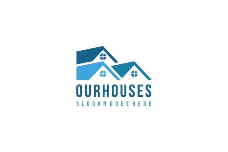 Immobilien und Häuser Logo Vorlage