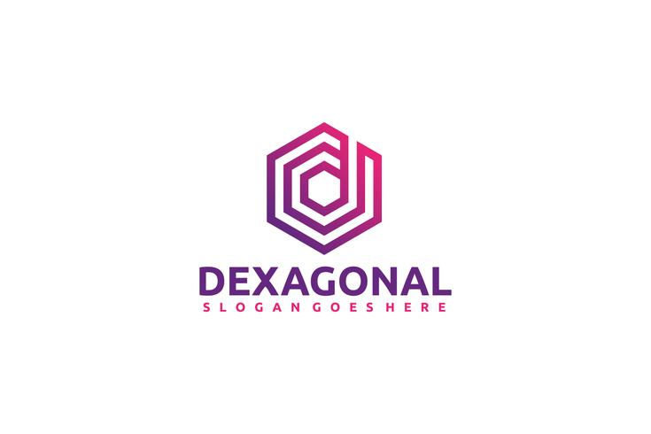 D Hexagon Logotipo