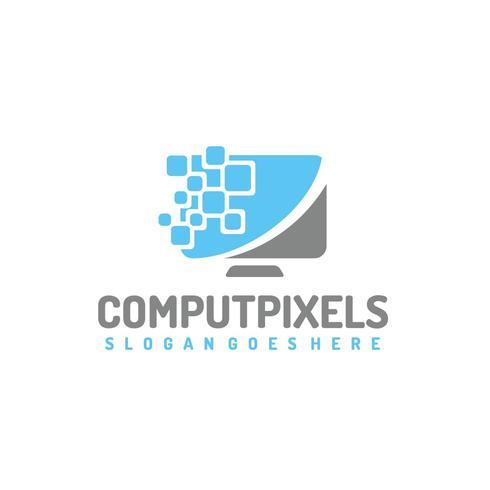 Logo de Pixels d'ordinateur