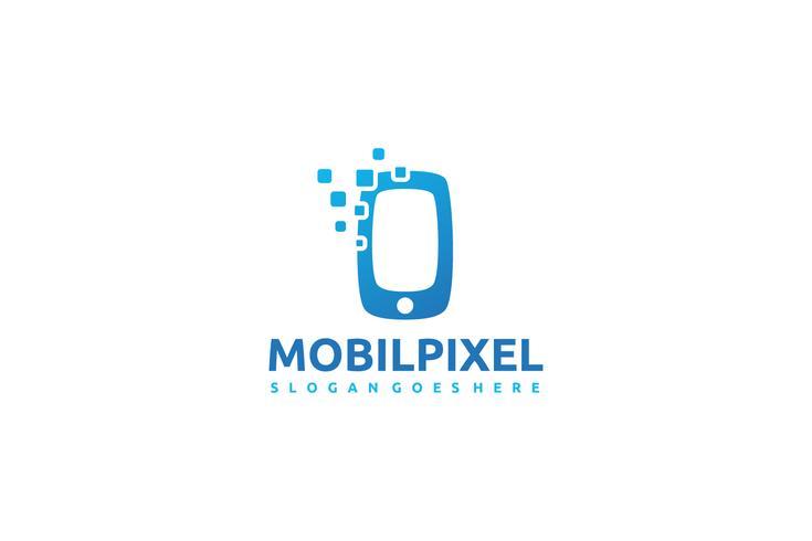 Logotipo de píxeles móviles