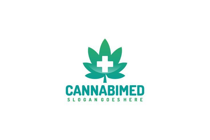 Medicinsk Cannabis Logo vektor