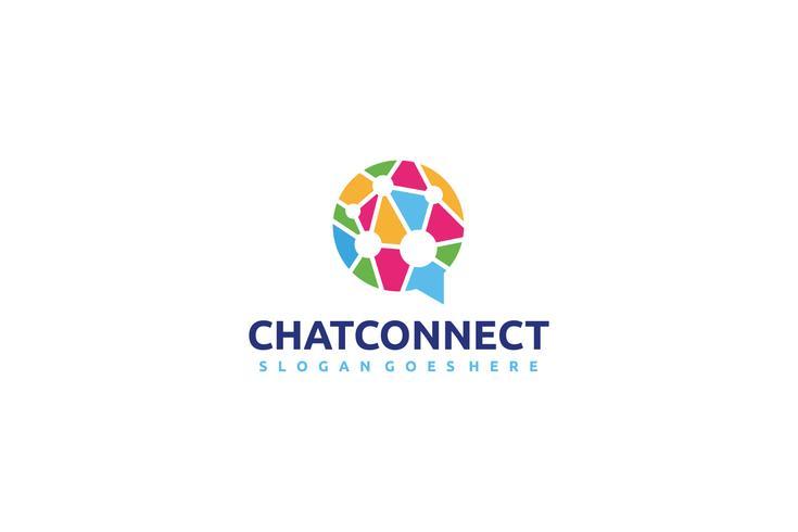 Colorido logotipo de chat