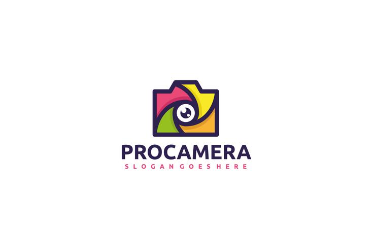 Professioneel camera-logo