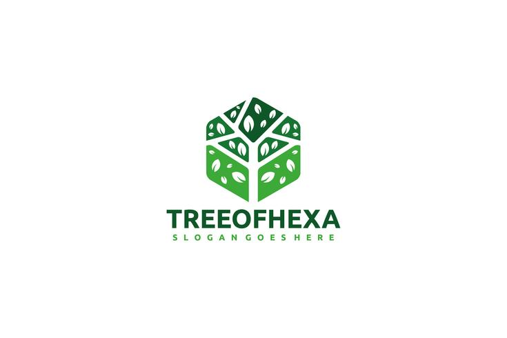 Hexagon Tree Logo