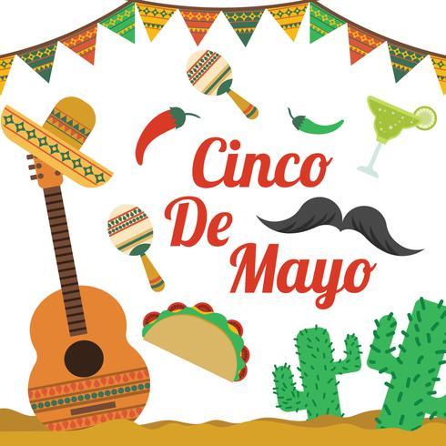 Cinco De Mayo Elements