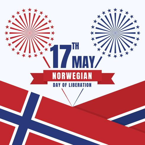 Norway Independence Day Patriotic Design National Colors Of The Country vector