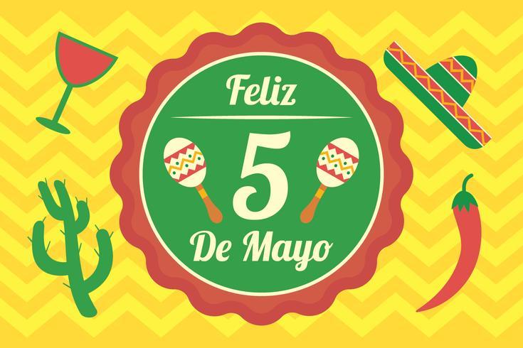 Antecedentes del Cinco de Mayo vector