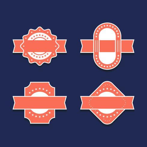 Vintage Labels Design Elements Set
