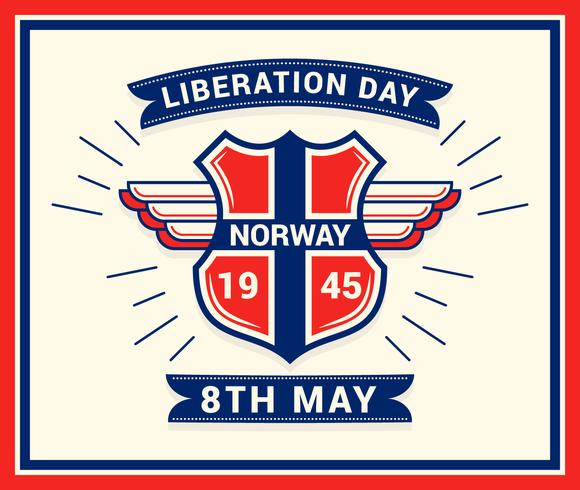 Unique Norwegian Day of Liberation Vectors