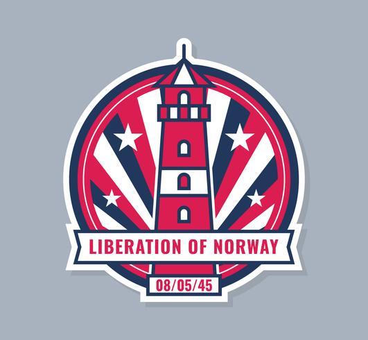 Unieke Noorse dag van bevrijdingsvectoren vector
