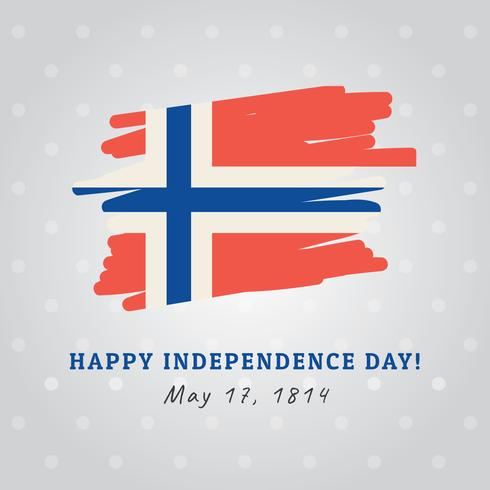 Norwegian Flag Celebrating the Independence