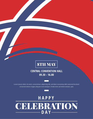 Norwegian Day of Liberation Poster vector