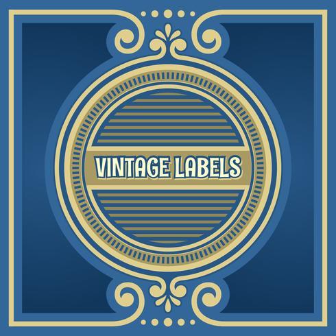 Vintage etiketter cirkel ram vektor