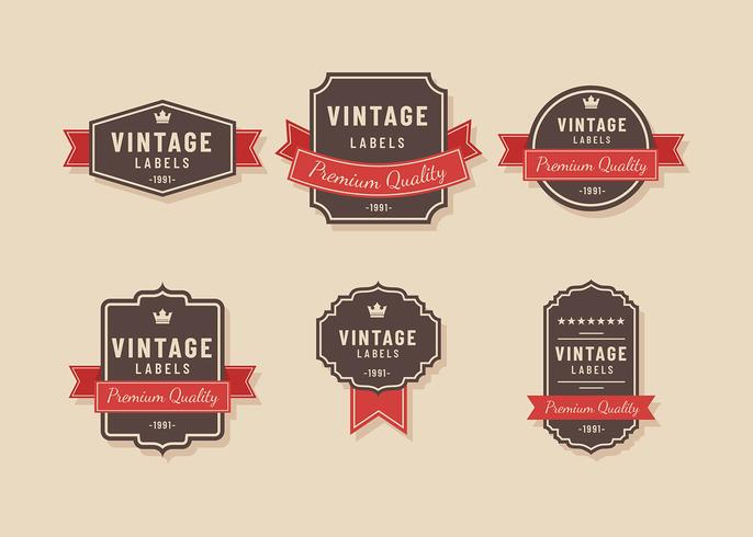 Vintage Label Brown Vector  Download Free Vector Art Stock