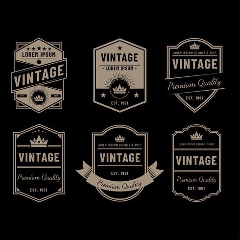 Vintage etiquetas vector negro