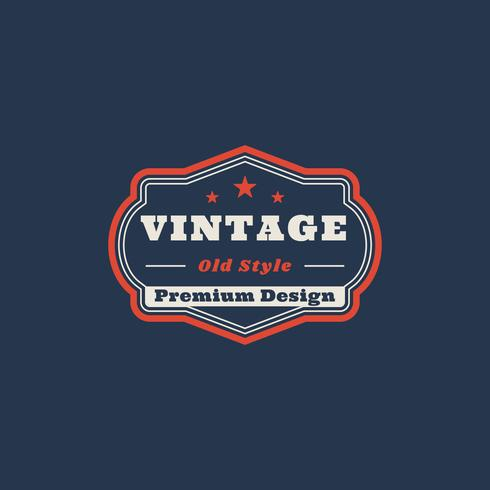 Modèle d'étiquette Vintage