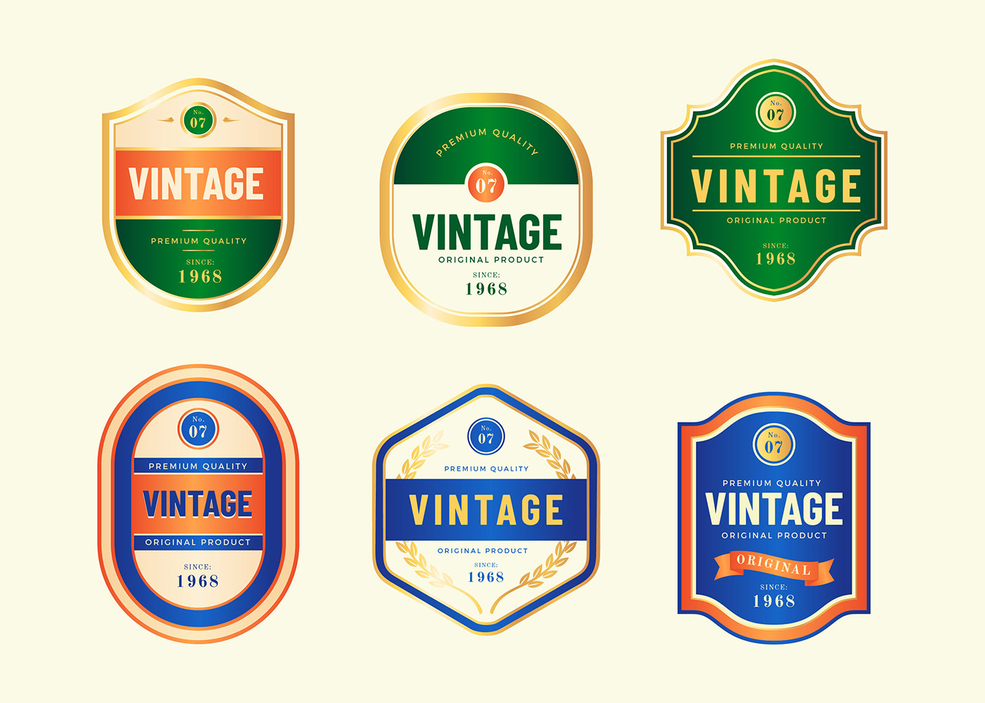 Vintage Labels Template Vector Download Free Vector Art Stock
