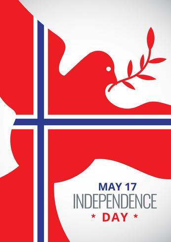 día noruego de la liberación Póster