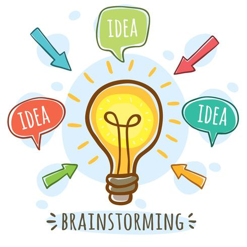 schets brainetorming vector