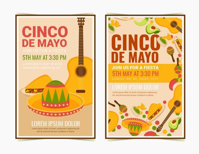 Vector Cinco De Mayo posters