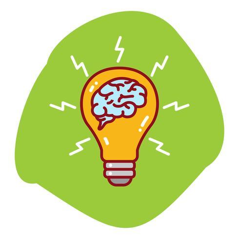 Brainstorming-Illustration der Birne