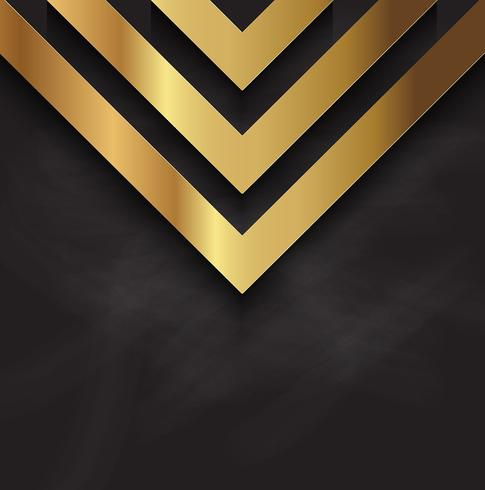 Abstract gold design on blackboard texture